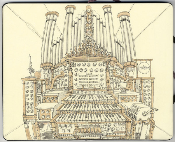 Organ Piano Drawing Drawings by Some of The