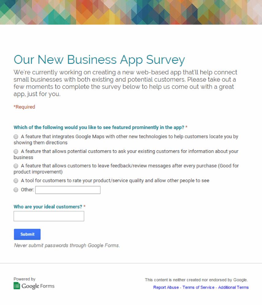 our-new-business-app-survey
