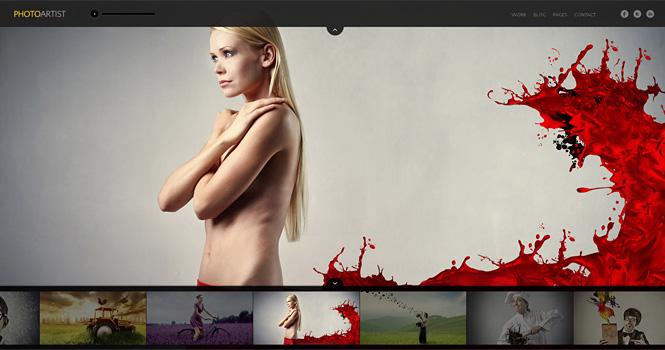 Photography WordPress Theme - PhotoArtist