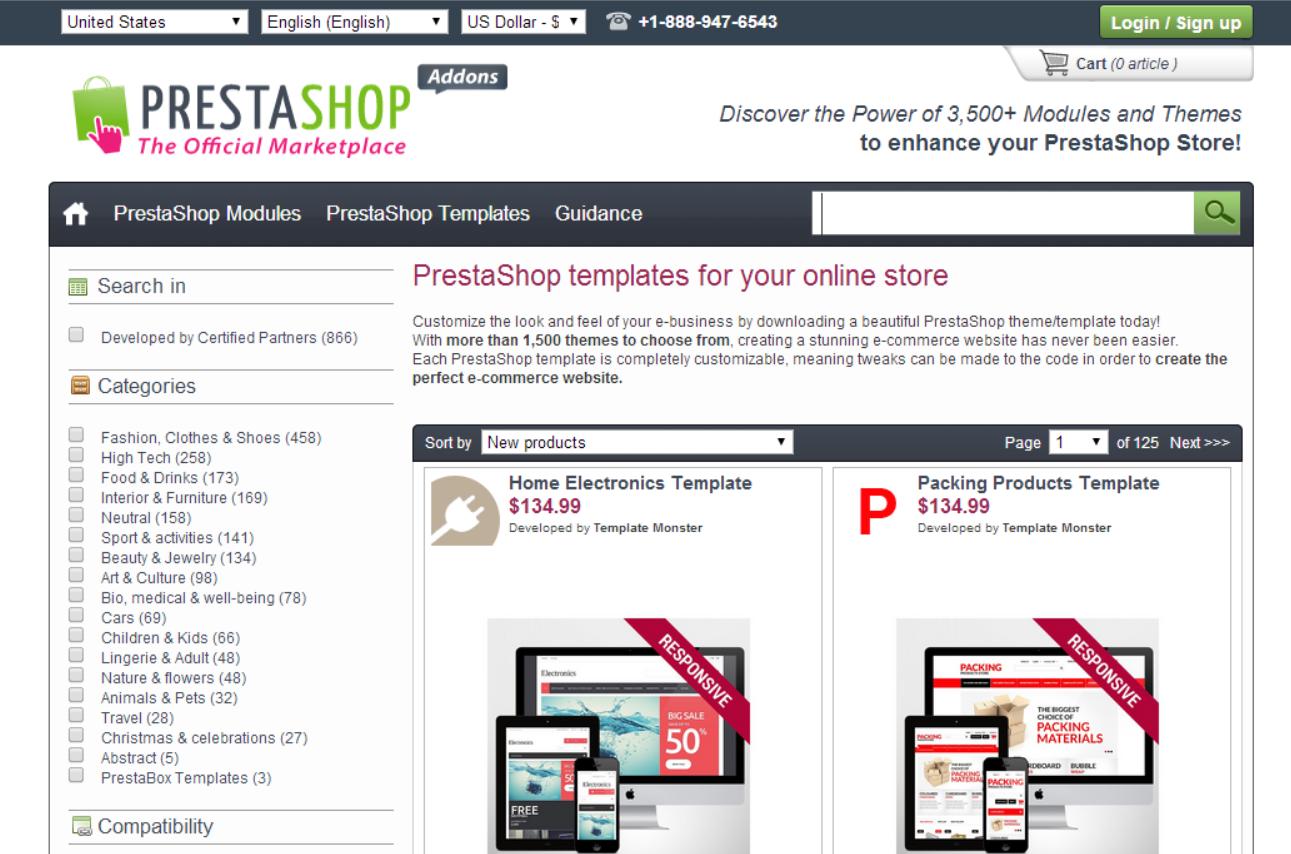 prestashop-theme-store