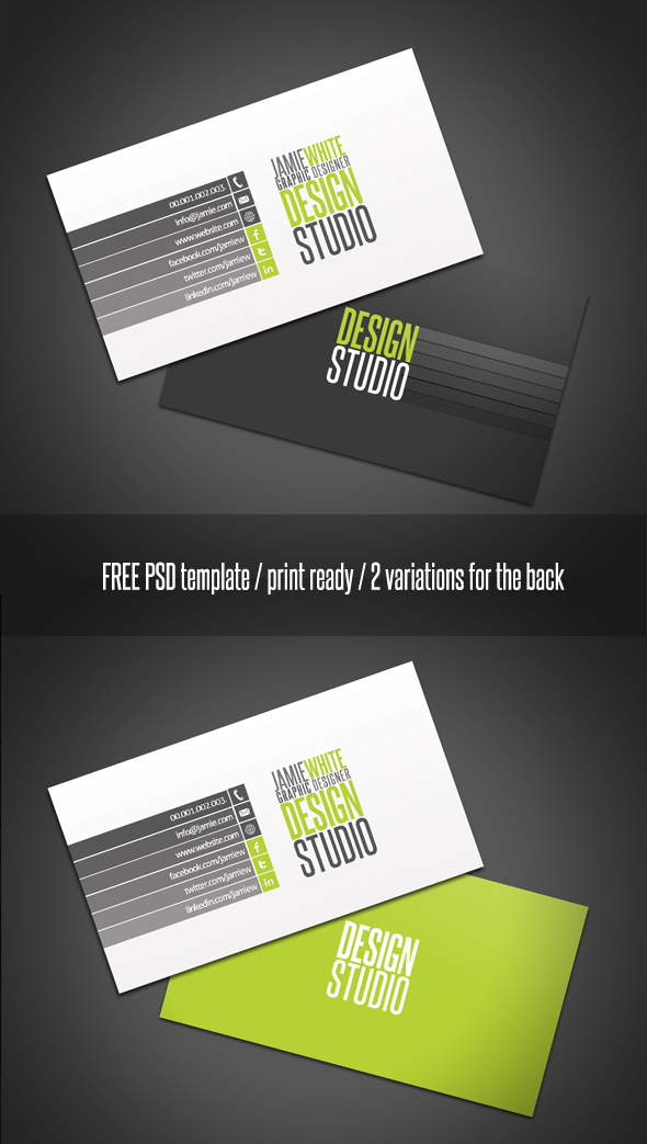 40 best free business card templates in psd file format for Photoshop templates business cards