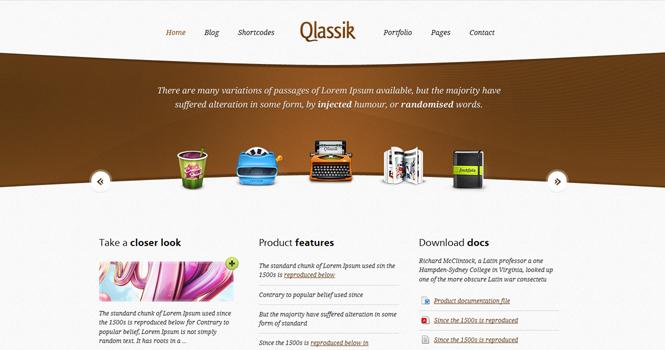 Company WordPress Theme - Qlassik