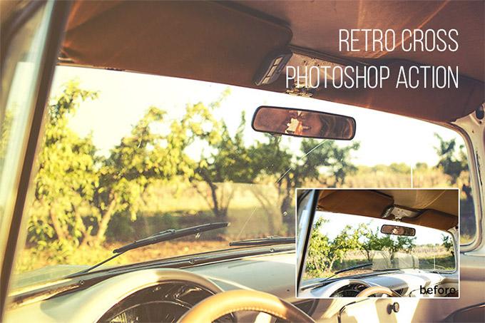 Retro Cross Photoshop Action