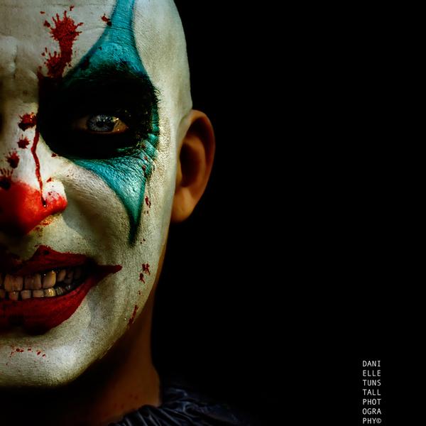 Scary clown makeup halloween art