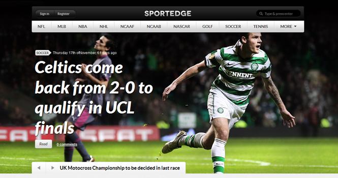 Sport WordPress Theme - Sportedge
