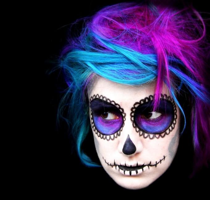 50+ Epic Halloween Art - Colorful Halloween Makeup