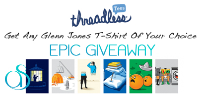 Epic Threadless.com T-Shirt Giveaway – Win Any Shirt Made By: Glenn Jones For FREE!
