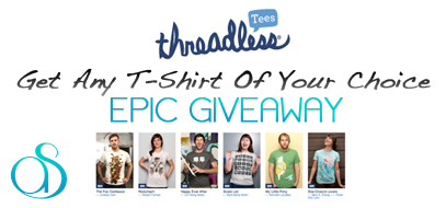 WINNER ANNOUNCED! Epic T-Shirt Giveaway – Win Any Shirt You Want From Threadless.com For FREE!