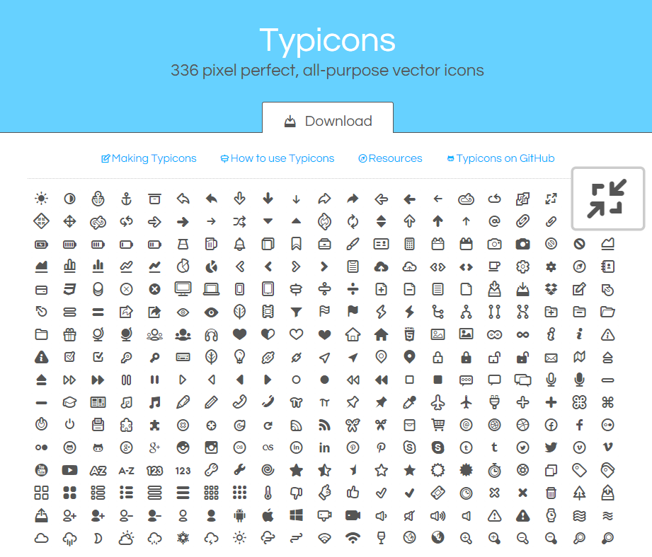 typicons-web-font-icons