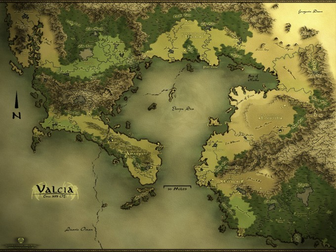 Fantasy Map Template Valcia Regional Fantasy Map
