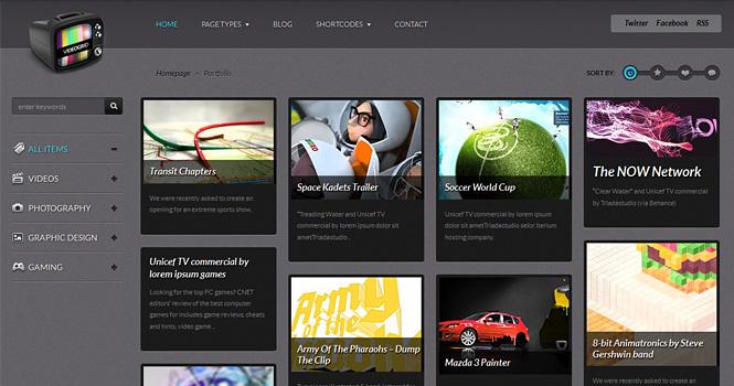 Video WordPress Theme - VideoGrid