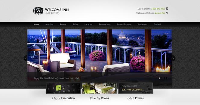 Hotel WordPress Theme - Welcome Inn