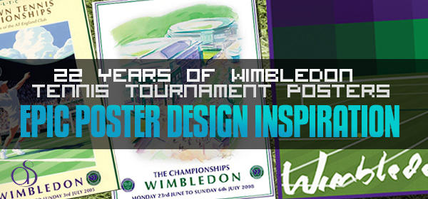 22 Years of Wimbledon Tennis Tournament Posters