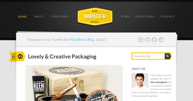 Personal WordPress Theme - Writer