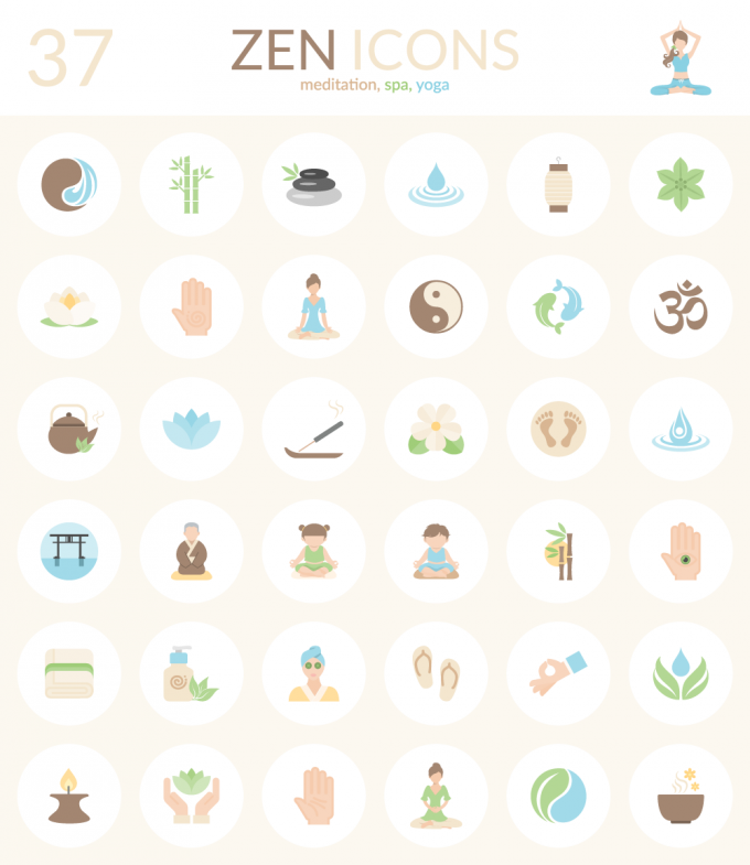 37 FREE EXCLUSIVE VECTOR ICONS: ZEN ICONS