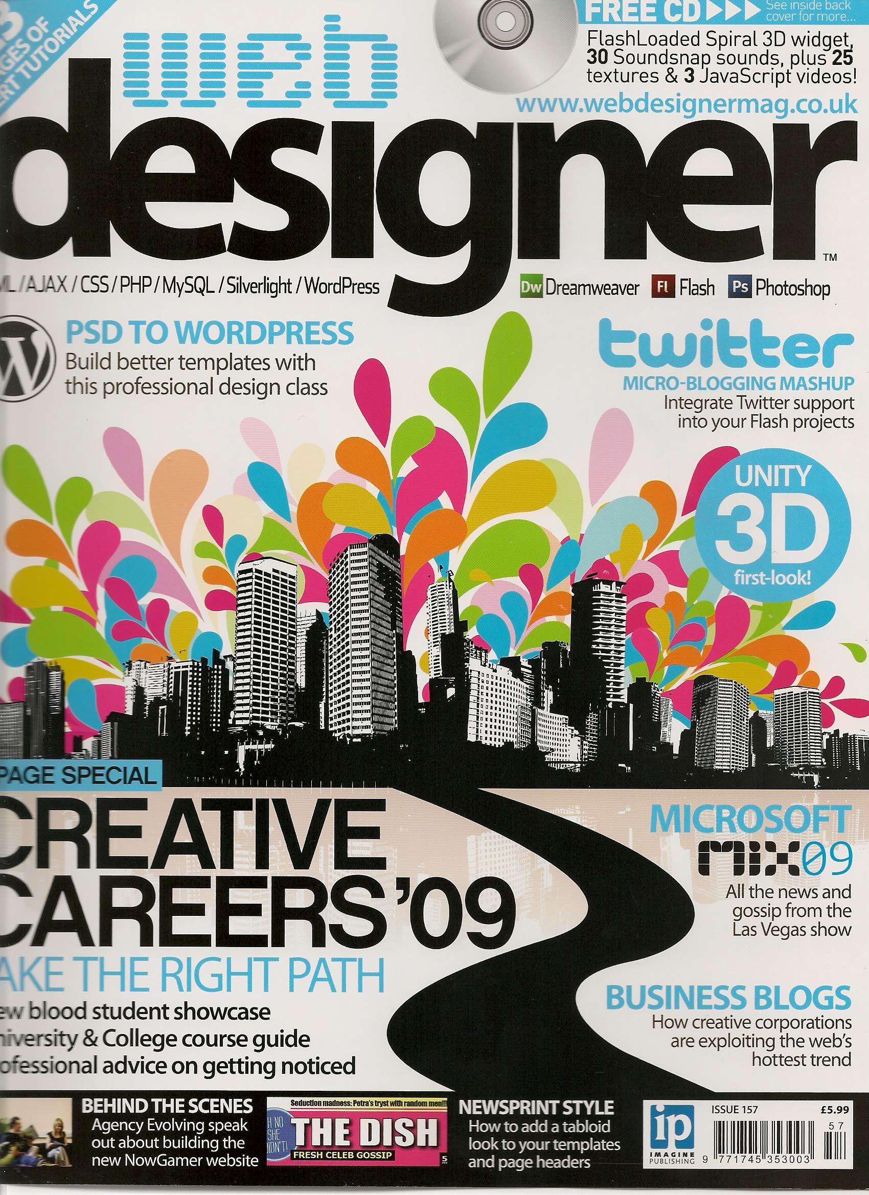 Got A Mention In This Months Web Designer Magazine