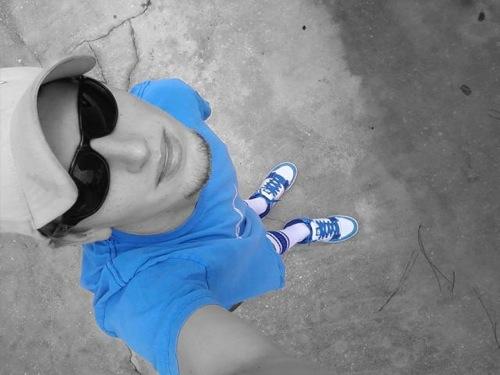 Man blue
