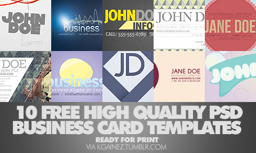 Quickie Roundup - Best FREE Business Card Templates (PSD Download ...