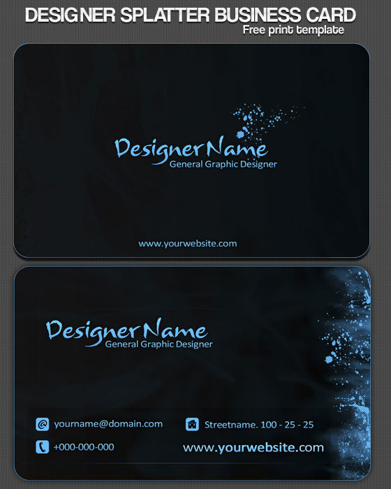 40 best free business card templates in psd file format best so far business card design tutorials resources inspirations fbccfo Choice Image