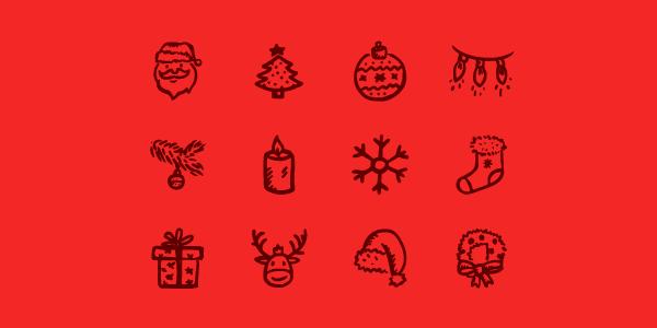 12 Christmas Line Icons Create Beautiful Designs for this Season