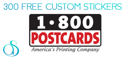 300 Personalized Stickers for Free from 1800Postcards.com!