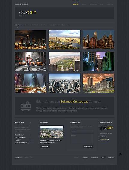 City Portal Responsive WordPress Theme