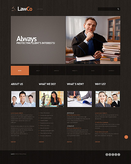 Law Responsive WordPress Theme