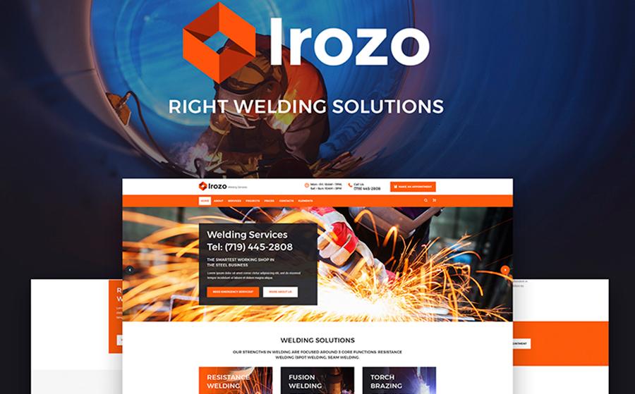 Irozo - Welding Services WordPress Theme