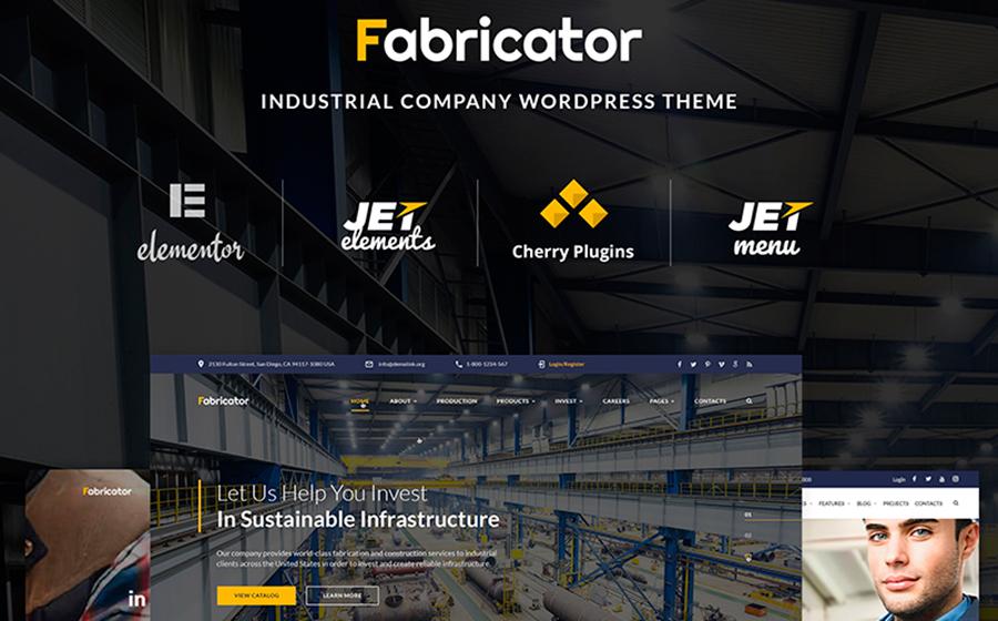 Fabricator - Industrial Company WordPress Theme