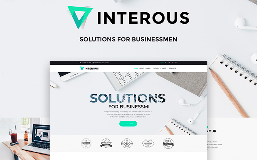 Interious - Business Services WordPress Theme