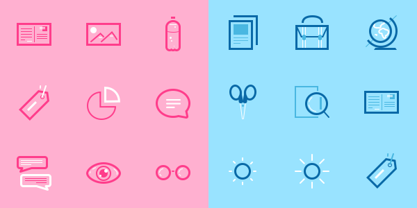 An Interesting Collection of Two-Tone Mini Icons