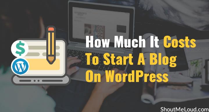 Cost-To-Start-A-Blog-On-WordPress