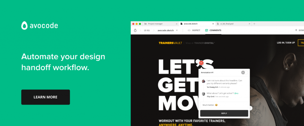 Easy to use prototyping & design handoff tools to improve your workflow (3)