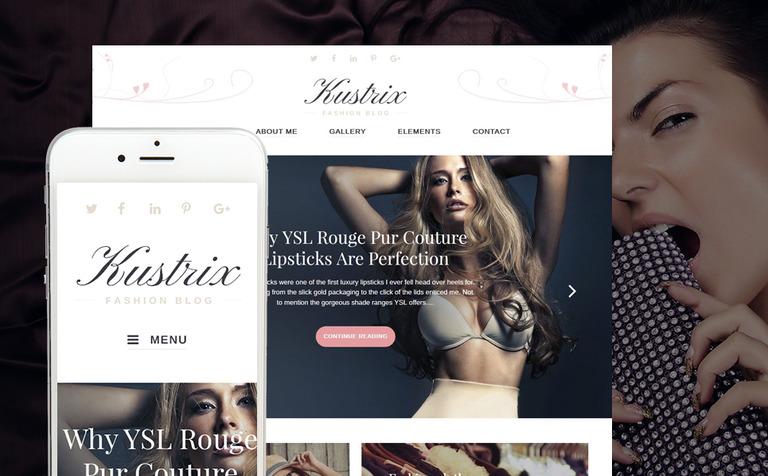 Kustrix - Fashion Blog Magazine WordPress Theme