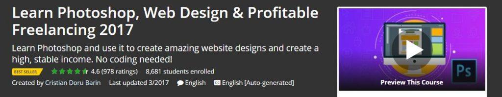 Learn Photoshop Web Design & Profitable Freelancing 2017