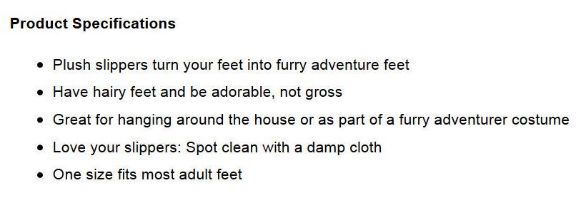 thinkgeek-furry-adventure-slippers