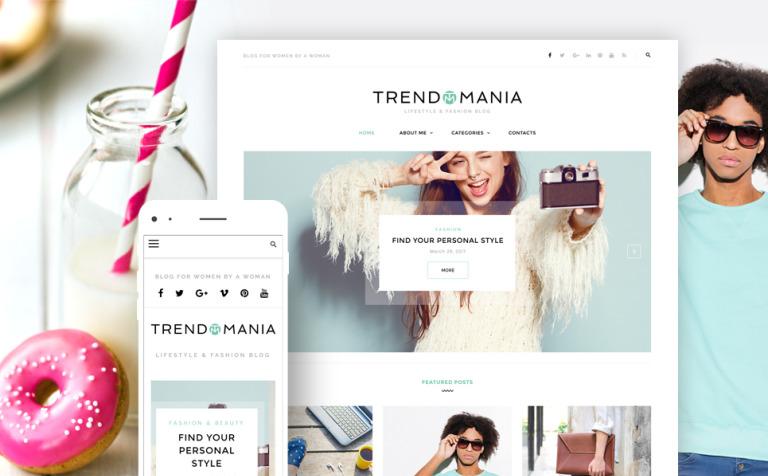 Trendomania - Lifestyle & Fashion Blog WordPress Theme