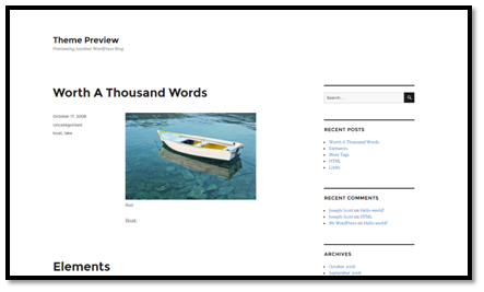 WordPress' 2016 Theme Preview