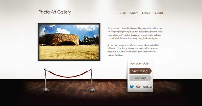Photo WordPress Theme - Art Gallery