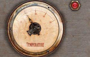 Retro styled metal gauge