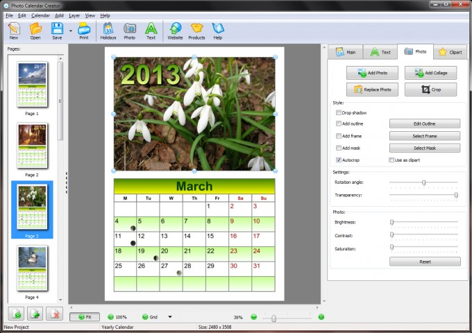 How to Make a Calendar with Your Photographs