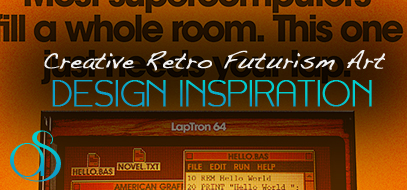Fantastic Modern Geek Examples of Retro Futurism Design Inspiration in 100+ Print Ads, Posters, Products & Art