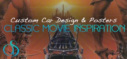 40+ Epic Examples of Custom Car Designs & Posters From Famous Classic Movies