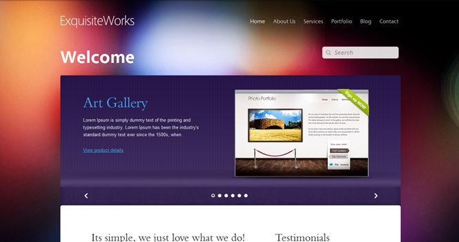 Corporate WordPress Theme - Exquisite Works