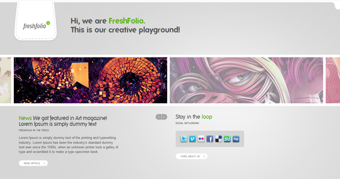 Minimalist WordPress Theme - Freshfolio