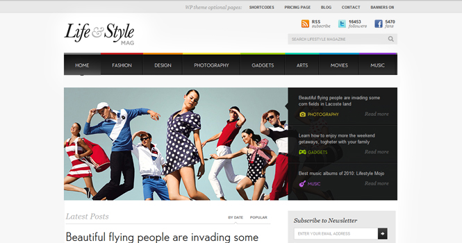 Magazine WordPress Theme - Lifestyle
