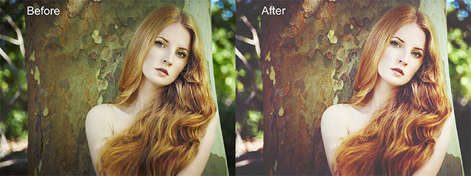 Gorgeous Redheads Photoshop Actions