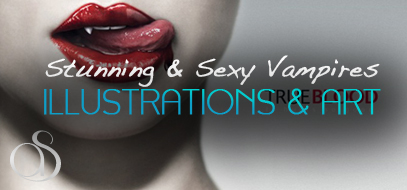 55+ Stunning, Bloody & Sexy Vampire Design Inspirations – Illustrations, Photography & Artwork with Famous Quotes!