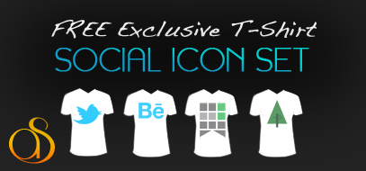 Exclusive Download – 16 T-Shirt Social Media Icon Pack FREE w/ layered PSD file