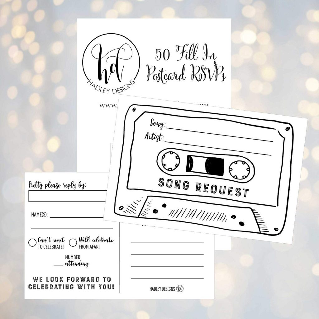 song-request-wedding-invitation-card-template